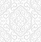 Heavenly Dove Damask Wallpaper