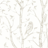 Neptune Taupe Forest Wallpaper
