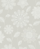 Panache Taupe Floral Wallpaper