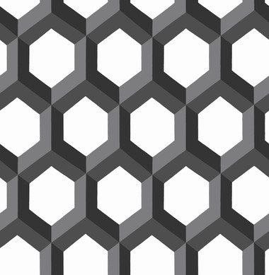 Hex Black Geometric Wallpaper