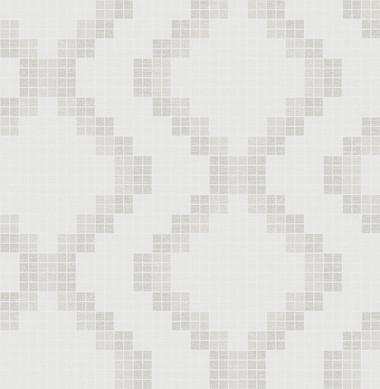 Mosaic Taupe Grid Wallpaper