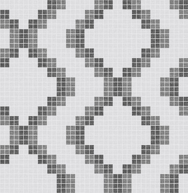 Mosaic Black Grid Wallpaper
