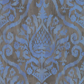 ARGOS BLUE DAMASK #353056 WALLPAPER