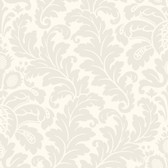 CO2016DE - Candice Olson Traditional Damask Wallpaper - Matte Cream/Pearlescent Wheat Straw