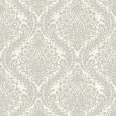 MR643711 Mixed Metals Tattersall Damask Wallpaper