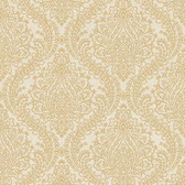 MR643712 Mixed Metals Tattersall Damask Wallpaper