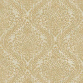 MR643713 Mixed Metals Tattersall Damask Wallpaper