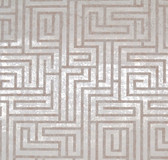 Y6220201 A-Maze Wallpaper - White/Tan