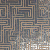 Y6220205 A-Maze Wallpaper - Dark Blue