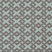 Y6220504 Trellis A-Go-Go Wallpaper - Opal Blue/Silver