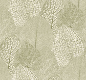 SD3749 Ronald Redding Designs Masterworks Seasons Wallpaper - Green/Cream