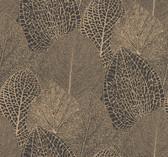 SD3750 Ronald Redding Designs Masterworks Seasons Wallpaper - Gold/Black