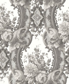 2763-24217 Dreamer Grey Damask Wallpaper