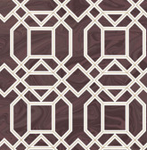 2763-24223 Daphne Maroon Trellis Wallpaper
