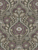 2763-12104 Night Bloom Charcoal Damask Wallpaper