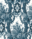2763-24216 Dreamer Blue Damask Wallpaper