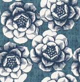 2763-24238 Fanciful Blue Floral Wallpaper