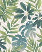 2763-24200 Nocturnum White Leaf Wallpaper