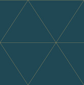 2763-24228 Twilight Teal Geometric Wallpaper