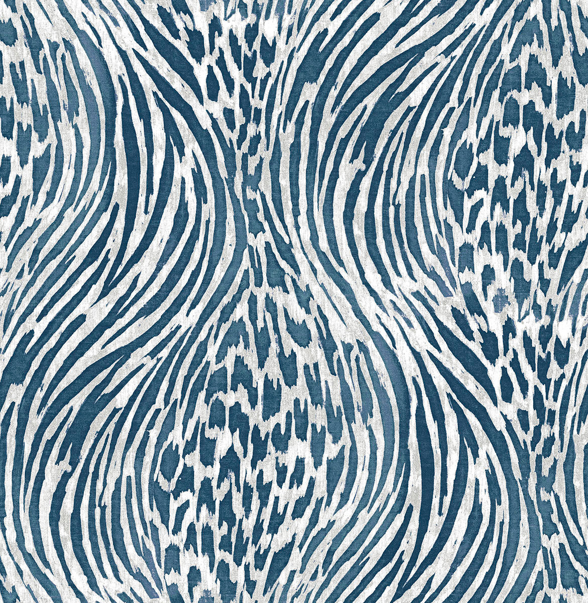2763 24205 Splendid Blue Animal Print Wallpaper
