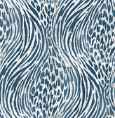 2763-24205 Splendid Blue Animal Print Wallpaper