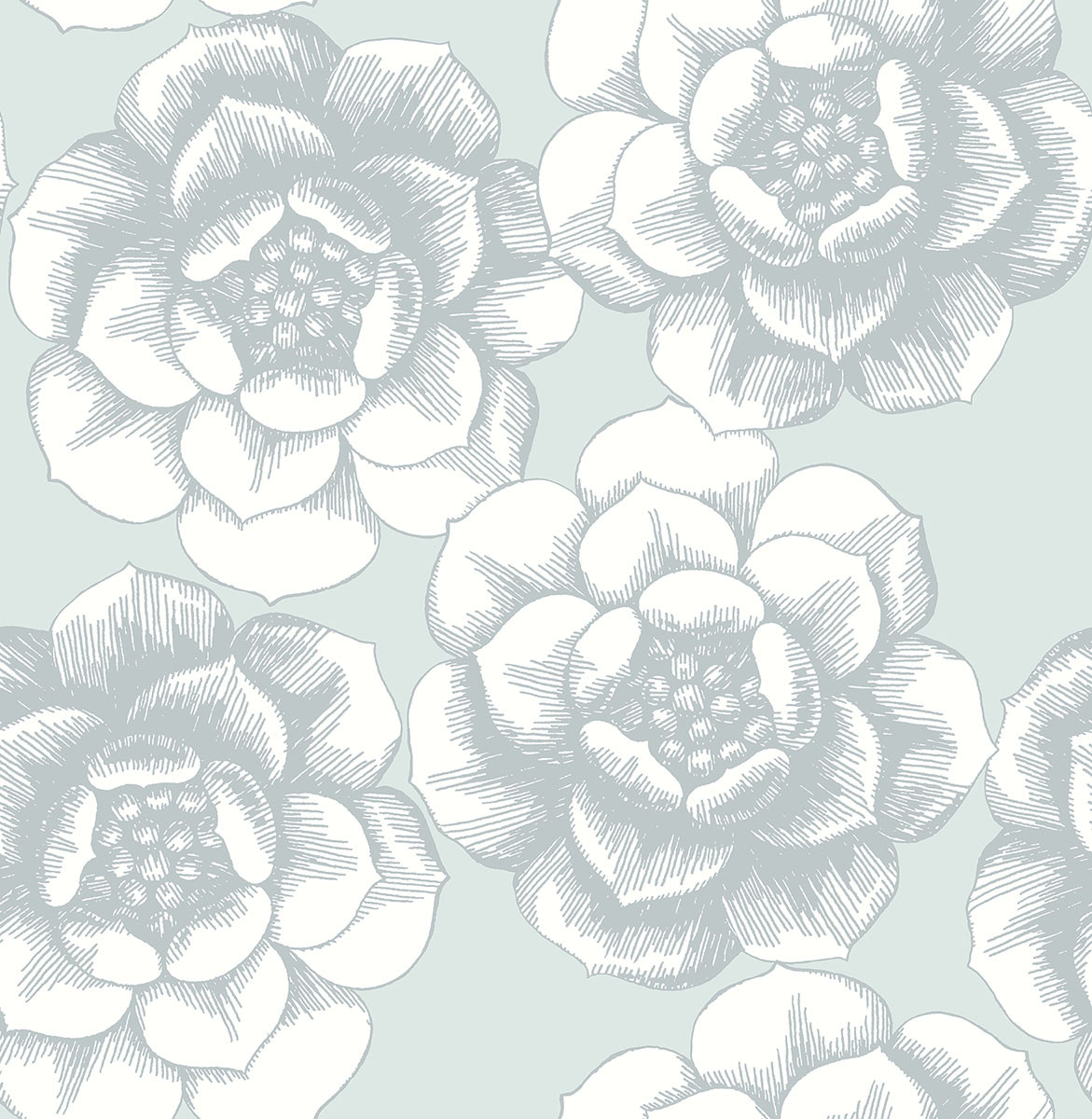 2763 24240 Fanciful Silver Floral Wallpaper Indoorwallpaper Com