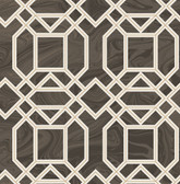 2763-24221 Daphne Brown Trellis Wallpaper