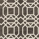 2763-24221 Daphne Brown Trellis Wallpaper