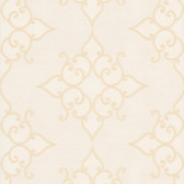 DL30605 Sebastian Cream Crepe Moroccan Medallion Wallpaper