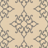 DL30606 Sebastian Gold Crepe Moroccan Medallion Wallpaper