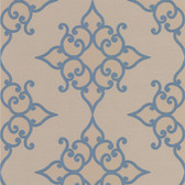 DL30607 Sebastian Blue Crepe Moroccan Medallion Wallpaper