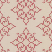 DL30608 Sebastian Red Crepe Moroccan Medallion Wallpaper