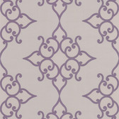DL30609 Sebastian Purple Crepe Moroccan Medallion Wallpaper