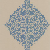 DL30621 Pastiche Blue Classical Motif Wallpaper