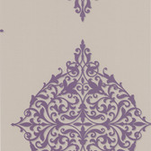 DL30622 Pastiche Purple Classical Motif Wallpaper