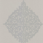 DL30624 Pastiche Grey Classical Motif Wallpaper