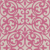 DL30625 Sonata Pink Ironwork Wallpaper