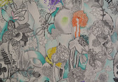 MI20094 Missoni Home Dreamland Wallpaper - Aqua/Violet/Grey