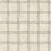 LG1331 Tattersall Wallpaper - Black/Taupe