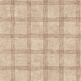 LG1332 Tattersall Wallpaper - Taupe/Red