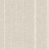 LG1340 Grain Sack Stripe Wallpaper - Beige