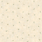 LG1375 Leaf Toss Wallpaper - Cream/Green