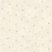 LG1377 Leaf Toss Wallpaper - Green/Blue