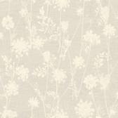 LG1381 Queen Annes Lace Wallpaper - Beige