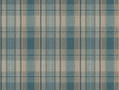 LG1415 Bartola Plaid Wallpaper - Peacock/Green