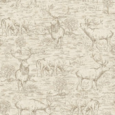LG1447 Stag Toile Wallpaper - Almond/Mink
