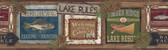 LG1451BD Lake Rules Border - Oak/Multi