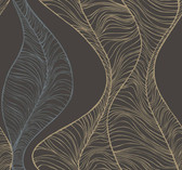 CP1228 Candice Olson Hoopla Wallpaper - Black