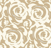 CP1246 Candice Olson Lavish Wallpaper - White on Gold