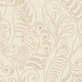 CP1268 Candice Olson Modern Fern Wallpaper - Antique Gold on Cream